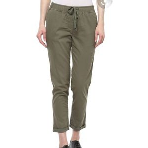 Old Navy Olive Green Pull-On Cropped Pant SZ 4